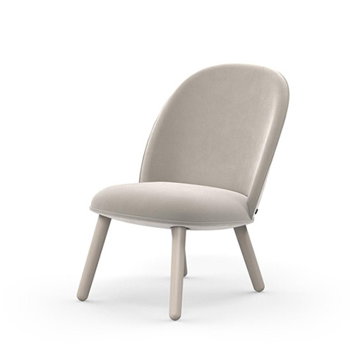 Ace Lounge Chair , Velour Beige