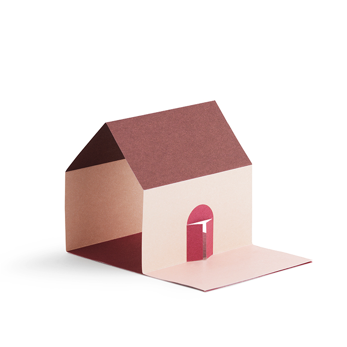 Sticky Notes House Pink