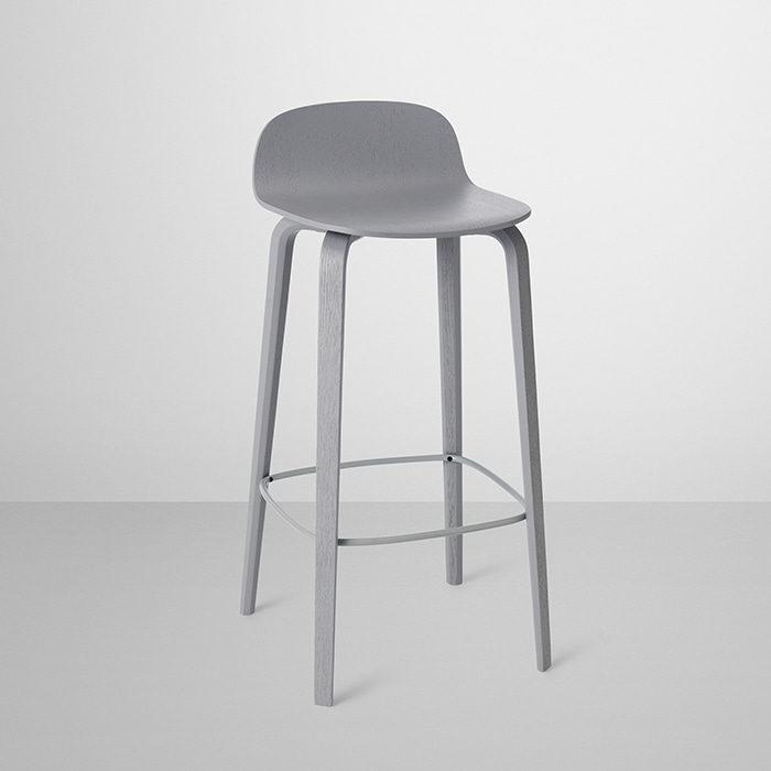 Visu Bar Stool , Wood base 2 colors