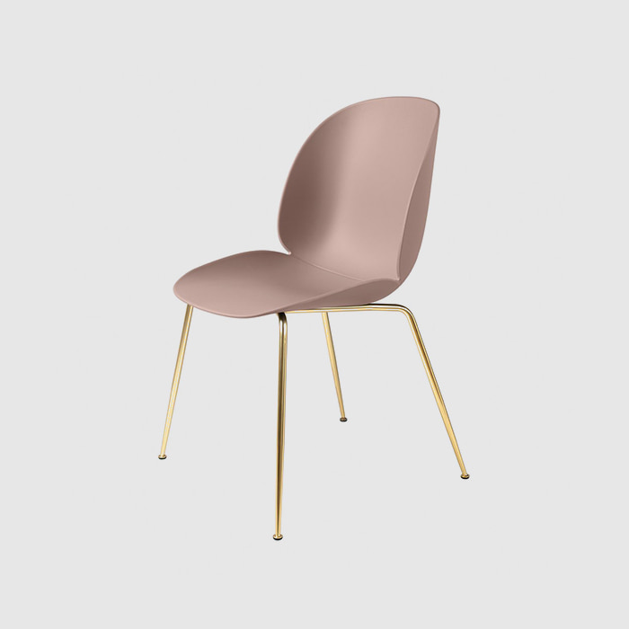 Beetle Dining Chair  Brass Frame  For Unupholstered