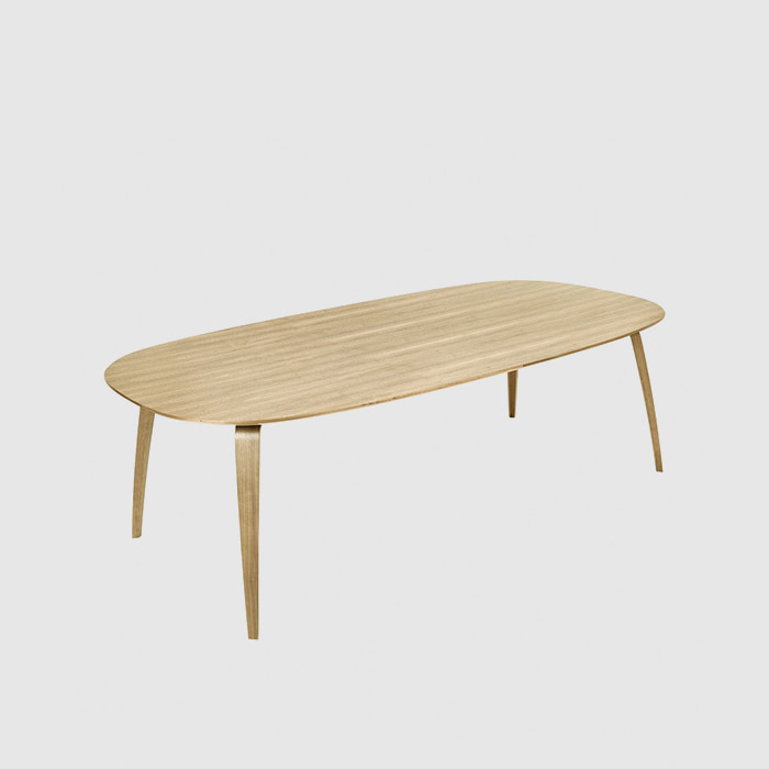 GUBI Dining Table Elliptical  Oak 230 *120주문 후 4개월 소요