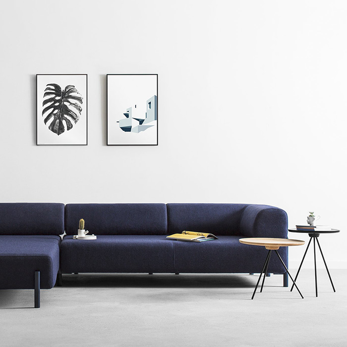 Palo Corner Sofa (Left)  Blue (12954)  11월 중순 입고 예정