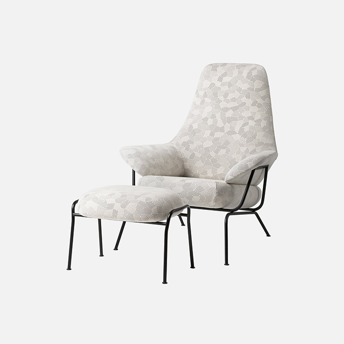 Hai Chair With Ottoman, Razzle Dazzle Natural  주문 후 4개월 소요