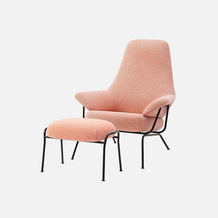 Hai Chair With Ottoman, Melange Coral  11월 중순 입고 예정