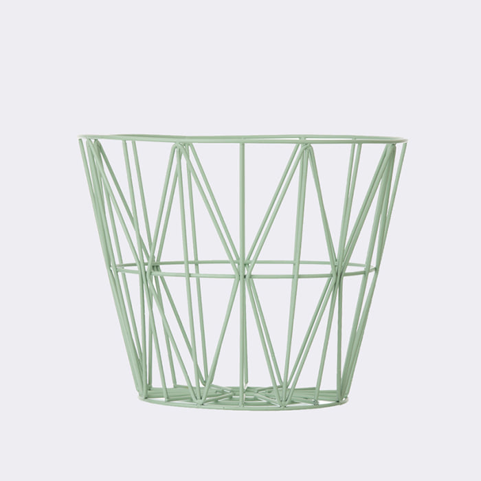 Wire Basket , Mint  2size