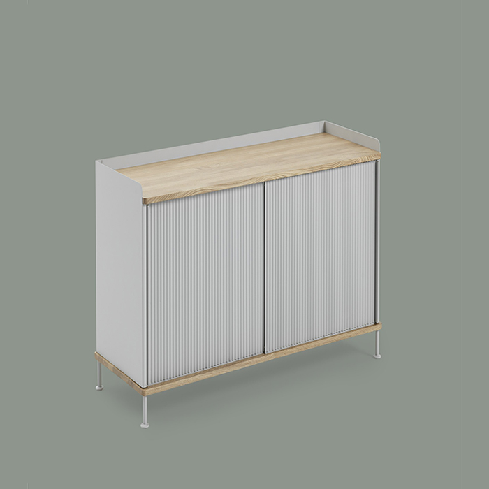 Enfold Sideboard Tall  Oak/Grey_