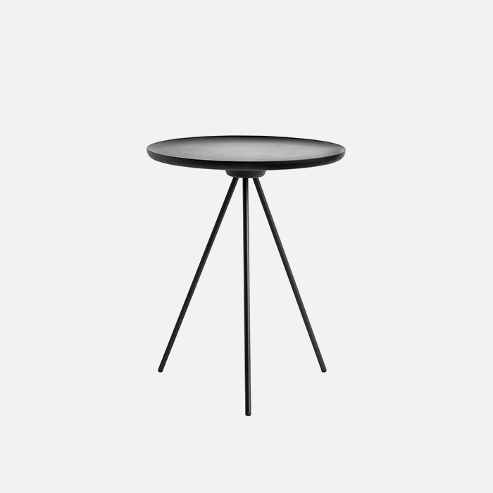 Key Side Table , Black ash / Black  11월 중순 입고 예정