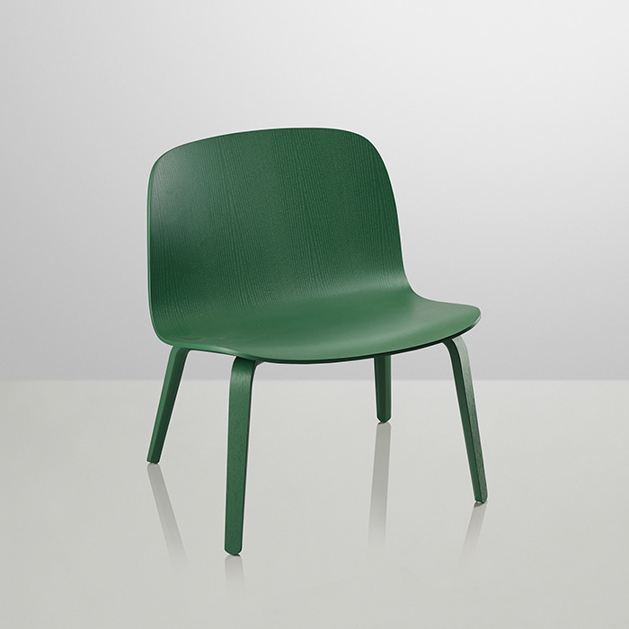*Visu Lounge Chair Wood, Special color (Green)