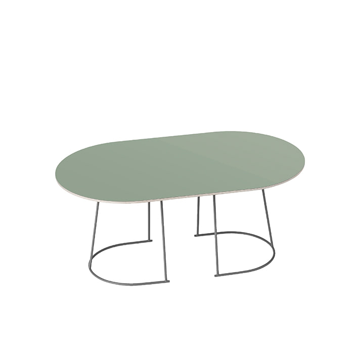 Airy Coffee Table, Mediumdusty green